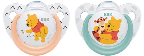 NUK Trendline Silicone Soother Disney Winnie the Pooh -  * Every day there are exciting adventures and new things to discover for our little adventurers. That is why, it is important to have a reliable companion at your side that does not only provide safety, but also has a calming effect.