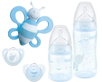 NUK Baby Rose & Blue Starter Set -  * With NUK's premium starter set from the popular Baby Rose & Blue collection which features subtle colours and cute motifs, parents are provided with a lovingly designed set for a carefree start with their baby.