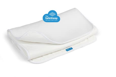 AeroSleep Mattress Protector with 3D Honeycomb Structure - ul> * The unique AeroSleep mattress protector provides your baby with safe sleep and lets even you as parents have a relaxing sleep./li>