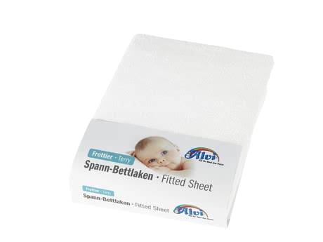 Alvi Terry Stretch Fitted Sheet for Cradle/ Bassinet/ Stroller -  * The Alvi fitted sheet is perfectly suitable for being used in cradles, bassinets and strollers.