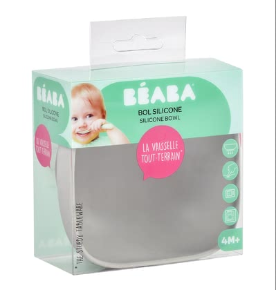 Béaba Silicone Bowl -  * Béaba's adorable tableware impresses everyone with its trendy pastel colours – trend-conscious parents rely on clear lines and are convinced by many super convenient features.