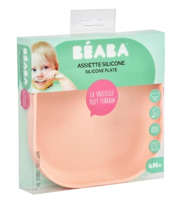 Béaba Silicone Plate light pink - large image