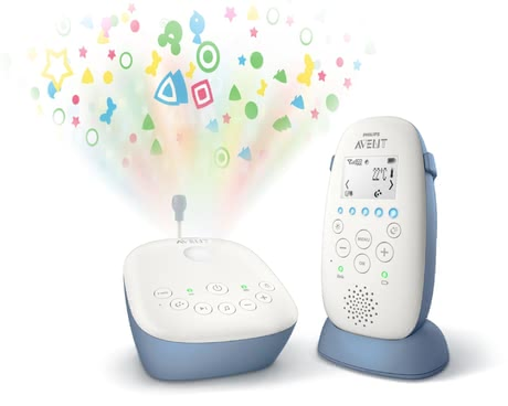Avent Philips DECT Baby Monitor SCD735/26 with Starry Sky Projector -  * With the Philips Avent DECT Baby Monitor SCD735 / 26, you can enjoy a private, interference-free and crystal-clear connection to your little one.