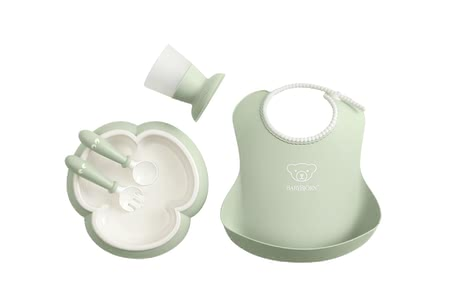 BabyBjörn Baby Dinner Set -  * Modern and smart at the same time – the BabyBjörn baby dinner set comes in subtle pastel colours and fits perfectly into your modern home.
