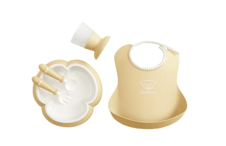 BabyBjörn Baby Dinner Set Powder yellow - large image