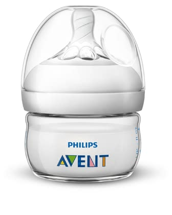 Avent Natural 2.0 Baby Bottle 60 ml -  * The 60 ml Natural baby bottle is perfect for your new-born baby, as it provides just the right amount of food.