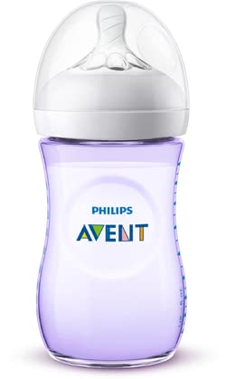 Avent Natural 2.0 Baby Bottle in Pastels Lila - large image