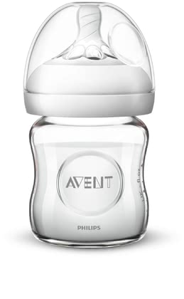 AVENT Natural 2.0 Glass Bottle -  * The Avent Natural 2.0 glass bottle makes switching between breastfeeding and bottle feeding much easier.