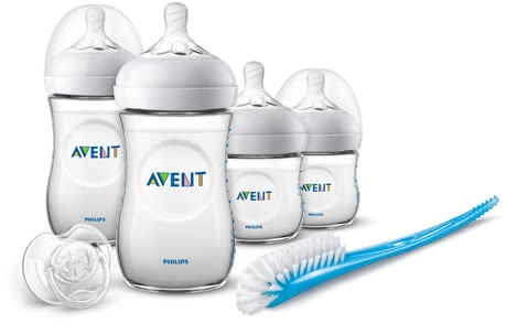 Philips AVENT Newborn Natural Set -  * This great starter set contains everything you as new parents need for providing your little one with optimum care – from baby bottles in different sizes, to teats, to soother. The Avent Natural teats make combining breastfeeding with bottle-feeding much easier.