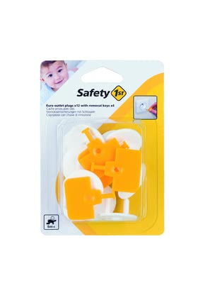Safety 1st Euro Socket Inserts -  * Make everyday life with small children safer. The Safety 1st Euro socket inserts are suitable for grounded or ungrounded Euro sockets with 2 pins.