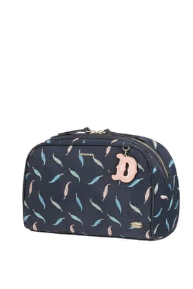 "Samsonite Disney Forever Dumbo Feathers Toiletry Bag -  * This beautiful toiletry bag by Samsonite is inspired by the Disney Classic ""Dumbo"". It is embroidered with pastel-coloured feathers and cute, ornamental details."