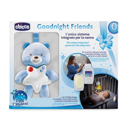 Chicco Set Audio Baby Monitor First Dreams – Good Night Bear -  * From now on, the bear-themed gift set accompanies your little one into the land of dreams.
