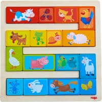 Haba Arranging Game Animal Parade -  * With the colourful Haba arranging game 'Animal Parade', children at the age of 2 years and up will learn how to differentiate colours and sizes.