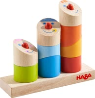 Haba Pegging Game Crazy Angles -  * With its crazy but fun angles, Haba's cheerful pegging game slightly marches to a different drummer. Again and again, your little explorer can put together the funny little guys from nine different parts.