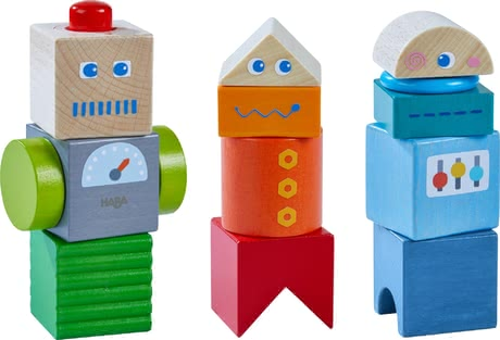 Haba Discovery Blocks Robot Friends -  * The versatile Haba discovery blocks are perfect for encouraging little robot fans to explore and discover. Children at the age of 2 years and up will be absolutely delighted by this robust sensory toy.