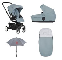 Easywalker Stroller Charley with Carrycot + Footmuff & Parasol	 -  * With this set, you are always well-equipped for the turbulent life in the city!