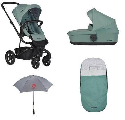 Easywalker Stroller Harvey 2 with Carrycot + Footmuff & Parasol -  * With the Easywalker stroller set Harvey 2 all new parents are always well-equipped right from the very first day.