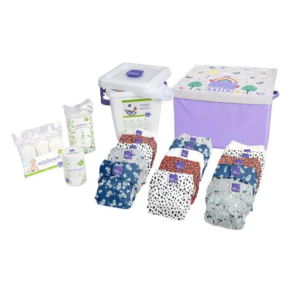 Bambino Mio miosolo Premium All-in-One Birth to Potty Pack -  * Welcome to the family of cloth nappy! Stylish and wonderfully easy to use, the award-winning BambinoMio All-in-One cloth nappies will convince all new parents immediately.