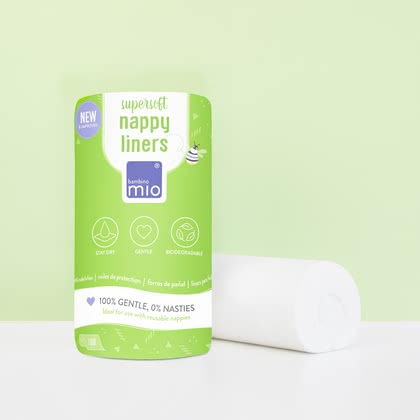 Bambino Mio mioliners – biodegradable Nappy Liners -  * ✓ super soft fleece ✓ 100% natural ✓ 100% biodegradable ✓ for sensitive skin