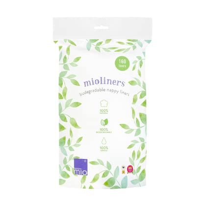Bambino Mio mioliners – Biodegradable nappy liners -  * The use of the biodegradable BambinoMio mioliners is 100% natural. It makes nappy changing with cloth nappies much easier and fuss free.