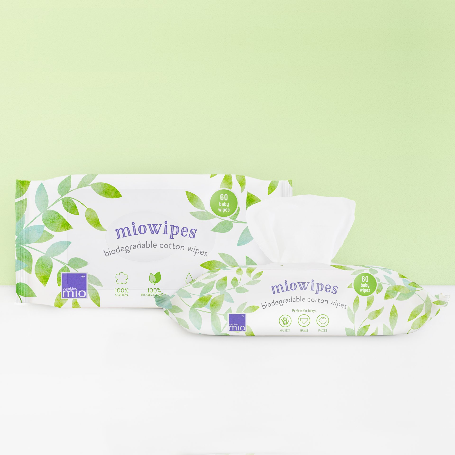 Natural Baby Wipes Bambino Mio 5 Pack Miowipes