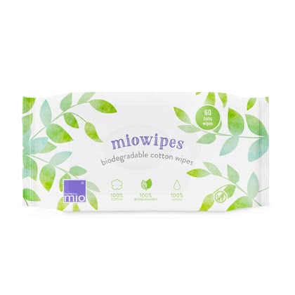 Bambino Mio miowipes Biodegradable Cotton Wipes -  * Nappy changing can be so easy! The natural, environmentally friendly and wonderfully soft cotton wipes are the ideal alternative to common baby wipes.