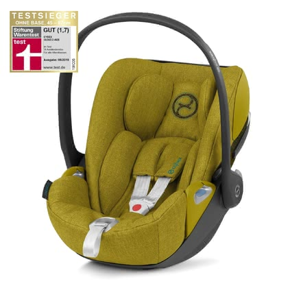 Cybex Platinum Baby Seat Cloud Z I Size, Yellow Car Seat And Stroller