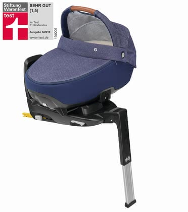 Maxi-Cosi Jade Carrycot for Cars including 3wayFix Sparkling Blue 2019 - large image