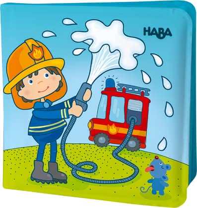 Haba Zauber-Badebuch Feuerwehr - Haba's colourful magic bath books provide entertainment and fun in the water, whether in the bathtub or in the paddling pool.