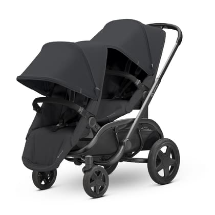 Quinny Double Stroller Hubb Duo Black on Black 2019 - large image