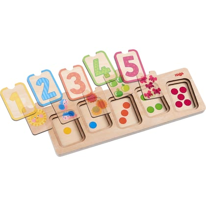 "Haba Wooden Puzzle ""First Numbers"" -  * This adorable puzzle will definitely delight your little explorer and contribute to their curiosity about and their fascination by this kind of game."