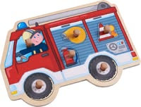 "Haba Clutching Puzzle ""Fire Engine"" -  * Haba's clutching puzzle ""Fire Engine"" stands out as a great introduction to the magnificent world of puzzles."