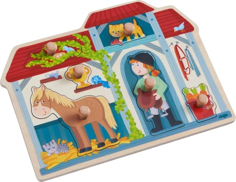 "Haba Clutching Puzzle ""In the Horse Stable"" -  * Haba's clutching puzzle ""In the Horse Stable"" stands out as a great introduction to the magnificent world of puzzles."