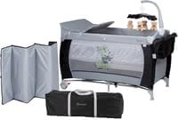 BabyGo Travel Cot Sleeper Deluxe -  * With the BabyGO travel cot Sleeper Deluxe you are fully equipped at all times. It comes with all the amenities your little one knows from at home.