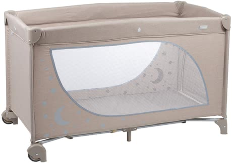 BabyGo Travel Cot Sleeper Moonstars -  * The sun, the moon and the stars will safely accompany your little one into the land of dreams the motif that glows in the dark lets your child beam with joy whenever they look at it.