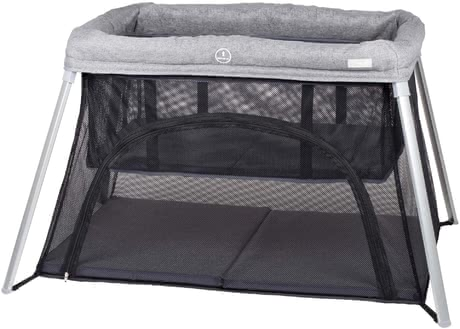 BabyGo Travel Cot Dreams II Grey 2020 - large image