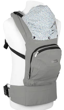 BabyGo Baby Carrier Cangoo grey 2020 - large image