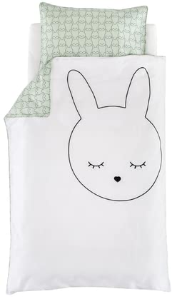 "Träumeland Bed Linen Cuddly Bunny 100 x 135 cm -  * Funny, modern and extravagant! The dreamlike look of the Träumeland bed linen ""Cuddly Bunny"" provides your little one with many cosy nights in the bassinet, bedside cot or in the stroller."