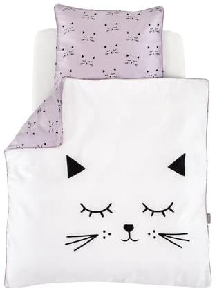 "Träumeland Bed Linen ""Cuddly Cat"" 80 x 80 cm -  * Simple and beautiful, the cute cat motifs do not only enchant your little cat lover. A modern colour adds an adorable touch to the bed linen and thus emphasise its timeless look."
