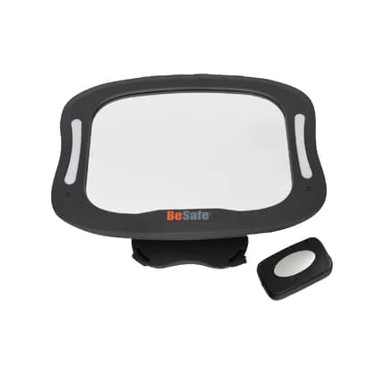 BeSafe XL Baby Mirror with Light -  * With the BeSafe XL baby mirror that features an extra-large mirror surface, a flexible rotation and a tilt mechanism on the rear seat, you can always keep an eye on your child.