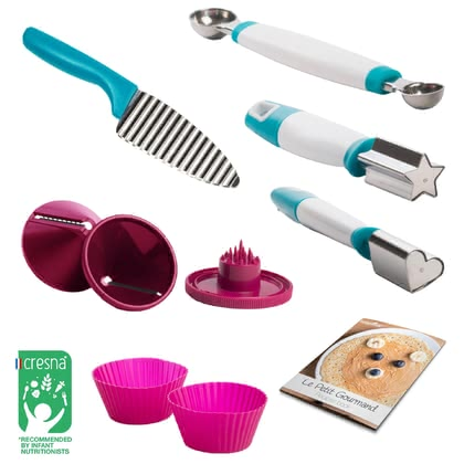 "Babymoov ""Petit Gourmand"" Fun Food Prep Kit -  * With the Babymoov ""Petit Gourmand"" fun food prep kit you can create fun shapes of your little one's food and thus make them to enjoy every meal a bit more."