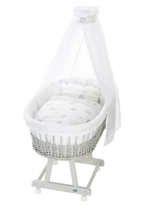 Alvi Bassinet Birthe with XL lying surface, 6 Pieces – Spiny Friends - large image