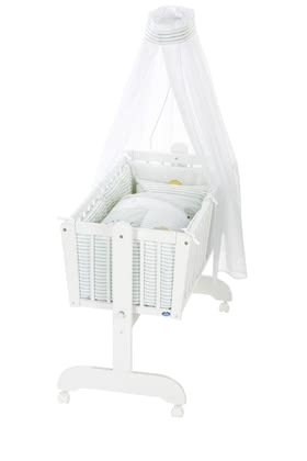 Alvi Baby Cradle, 6 Pieces – Little Farm -  * The classic Alvi cradle stands out as the perfect sleeping place for newborns. The romantic environment provided by this set will make your baby feel safe right from the start.