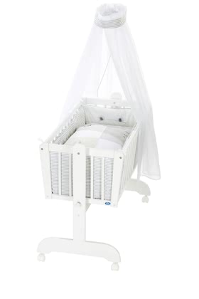 Alvi Baby Cradle, 6 Pieces – Faces -  * The classic Alvi cradle stands out as the perfect sleeping place for newborns. The romantic environment provided by this set will make your baby feel safe right from the start.