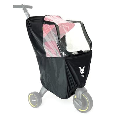 Doona Rain Cover for Liki Trike -  * Specially designed for all Doona Liki trikes, this rain cover keeps your little one dry even in bad weather. The water-repellent fabric lets raindrops drip off.