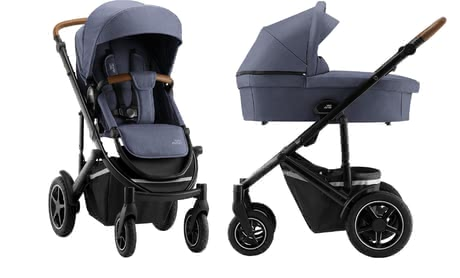 Britax Römer Stroller SMILE III – Essential Bundle -  * ✓ all-in-one stroller ✓ narrow width ✓ air-filled tires ✓ comfy carrycot ✓ outstanding suspension ✓ suitable for being used as a travel system