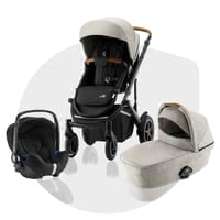 Britax Römer Stroller SMILE III – Comfort Bundle -  * ✓ from birth ✓ easy change between the travel systems ✓ including seat unit, carrycot, infant car seat Baby Safe² i-Size ✓ air-filled tires ✓ for town and country