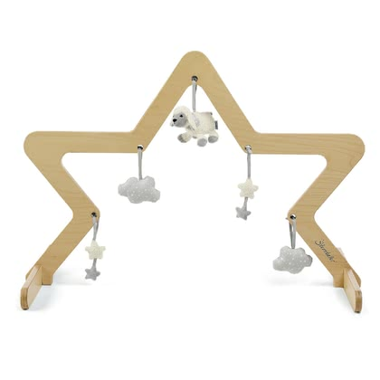 Sterntaler Wooden Play Arch with Toy Figures -  * Sterntaler's wooden play arch comes in a natural colour and can be put over your baby's crawling blanket or play mat. Its star-shaped look stands out as a real eye-catcher in every nursery.
