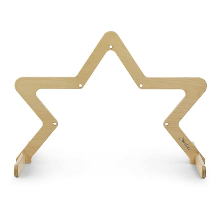 Sterntaler Wooden Play Arch - Robust wooden play arch, Star-shaped design, Play arch made of 100% plywood, Material and processing correspond to the highest quality,