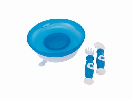 Bieco Meal Set -  * Consisting of a plate with a suction cup, a fork and a spoon, the Bieco meal set makes feeding your child easier.